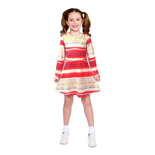 884177c2d5 Nuevo otoño niñas vestidos MOANA vestido de fiesta de manga larga princesa  vestido para niñas Moana