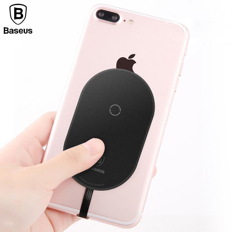 Baseus QI WIRELESS-LADEGERÄT Empfänger Für iPhone X 8 7 6 5 Samsung Hinweis 8 S8 S7 S6 Rand Wireless Charging-Receiver Für Xiaomi MiA1