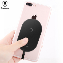 Baseus Microfiber Wireless Charging Receiver For iPhone X 8 7 6 5 Samsung Note 8 S8 S7 S6 Edge