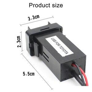 Image 4 - Dual USB Âm Thanh Xe Hơi Dành Cho Xe Toyota 5V 2.1A USB Adapter Sạc Dành Cho Điện Thoại Di Động Dẫn Đường GPS Tracker USB Ổ Cắm