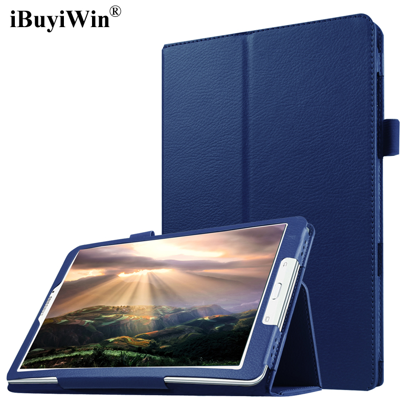 iBuyiWin Case for Samsung Galaxy Tab E 9.6 T560 T561 SM-T560 Slim Folding Flip Stand Cover PU Leather Case Tablet Funda+Film+Pen top quality smart pu leather cover for samsung galaxy tab e 9 6 t560 t561 tablet case tablet slim protective shell pen