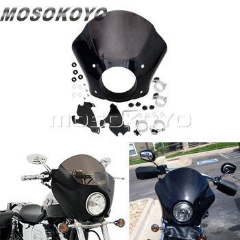 Gauntlet Headlight Fairing w/ Trigger Lock Mounting Kit for Harley Sportster Iron 883 Super Low Deluxe 1200 Roadster Seventy-Two