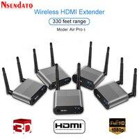 Measy воздуха Pro 4 100 м/330FT 2,4 ГГц/5,8 ГГц Беспроводной Wi Fi HDMI аудио видео удлинитель передатчик 1 Отправитель 4 приемник комплект с ИК
