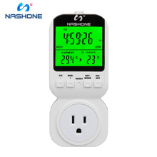 Nashone Plug Timer Temperature Sensor Socket With Timer Smart thermostat switch 220V EU Control Room Thermostat For Gas Boiler ts 4000 multi function thermostat timer switch socket with sensor probe energy saving mechanical timer socket timing switch hot