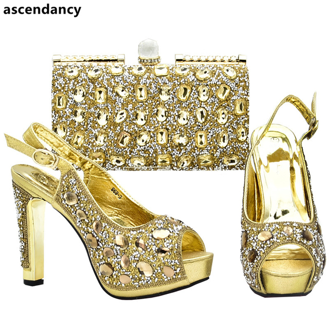 Women Italian African Party Pumps Shoes and Bag Set Decorated with Rhinestone  African Shoes for Women Nigerian Women Party Shoes 9816c9fc6f86