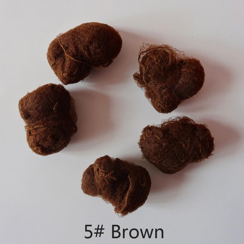 50pcs/20pcs Sample Order Five Colors Nylon Hairnets Black Brown Coffee Color Invisible Soft Elastic Lines Hair Net 3