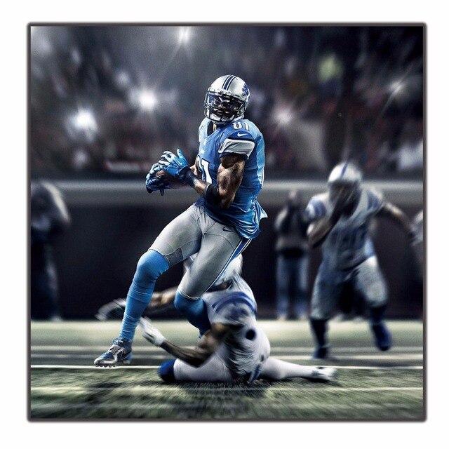 3485787e US $6.75   Detroit Lions Calvin Johnson Hot baseball Player art silk Poster  home decor 12x12in livingroom wall decration Pop gift 24x24-in Painting &  ...