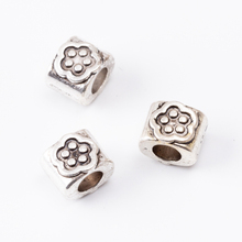 20pcs flower Scattered beads Tibetan silver jewelry alloy fit Chamilia bracelet DIY js2022