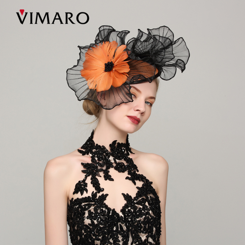 VIMARO Elegant Flower Sinamay Party Fascinator Party Hair Accessories For Women Hair Jewelry Hairbands Gift Headpiece Wedding женские часы boccia titanium 3208 01 page 9