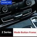 CNORICARC 2 шт. хромированная ABS центральная консоль режим Кнопка рамка украшение Накладка для BMW 2 серии Active Tourer 218i