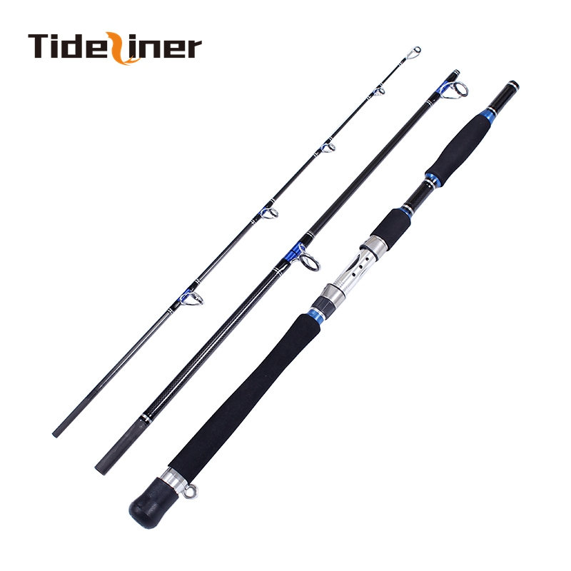 Tideliner Boat fishing Rod 1 8m 1 95m 2 1m Carbon fiber spinning jigging fishing rods