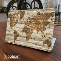 Wood World Map Laptop Full Cover Skin For Apple Macbook Air Pro Retina 11 12 13