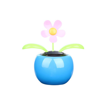1PC New Moving Dancing Swing Flip flap Solar Toy Power Sunflower Apple Car gadgets Gift Home Toys Decorating Plants 3