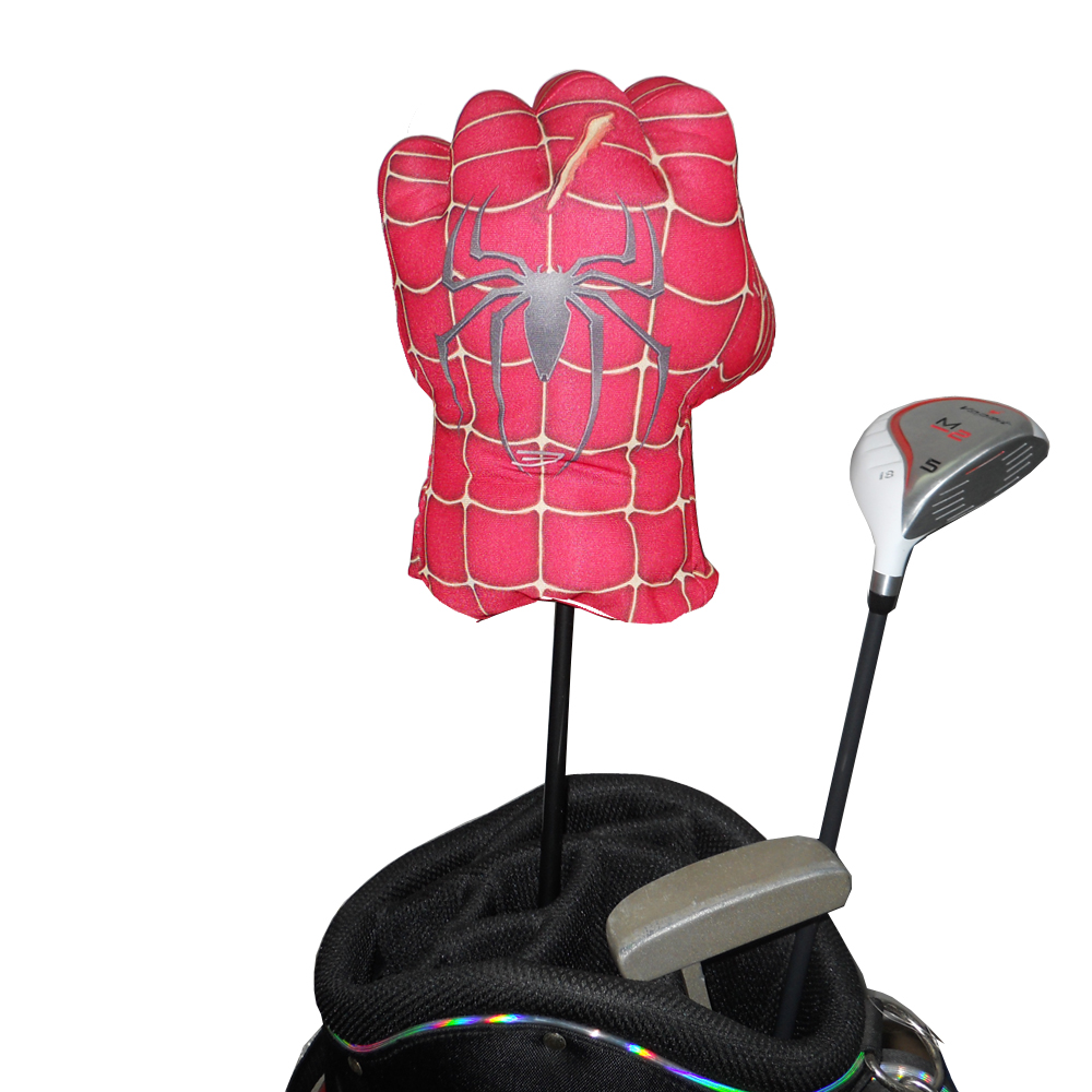 Golf Animal Headcover for Driver Wood 460cc , The Spider Boxing Glove for golf club head
