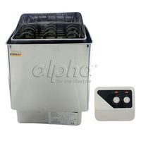 Free shipping 3KW220-240V 50HZ stainless steel sauna heater with switch controller comply with the CE standard