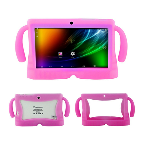 7 Inch Soft Silicone Gel Cover Case For Q88 Android Kids Children Tablet PC A13 Pink