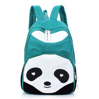 Для женщин панда Стиль рюкзак Школьные ранцы Холст Bookbag Рюкзак-темно-зеленый