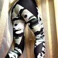 Otoño Nuevo de Las Mujeres Flacos de Las Polainas de Fitness Legging Flaco Leggins Pantalones de Camuflaje de La Manera Gótica de Punto