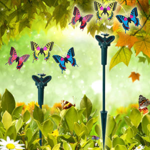 1pcs Solar Power Vibration Dancing Fly Fluttering Birds For Garden Yard Decorative Stake