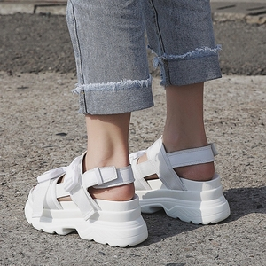 Image 3 - Cootelili sandálias gladiador feminino, sapatos de verão plataformas casuais femininas preto e branco plus size 41 42
