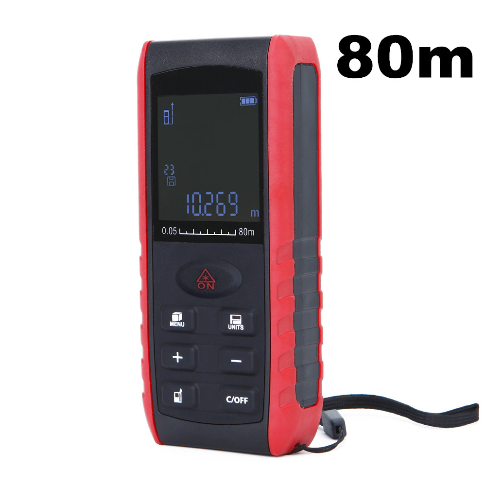 10pcs by dhl fedex 100m Handheld Digital Laser Distance Meter Range Finder Measure Diastimeter Rangefinders цена