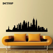 Лучший!  Нью-Йорк Skyline Стикер Стены Дети дети Наклейки Главная Декоративные для гостиной диван фон Спальня Лучший!