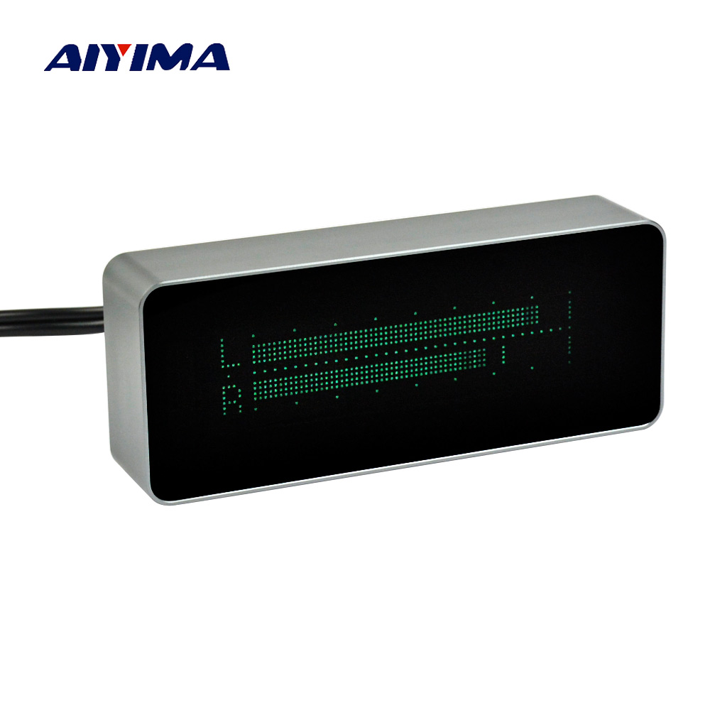 Aiyima Musica Audio Spectrum VFD 15 Indicatore di Livello VU Meter di Precisione Orologio Bordo Dell'amplificatore Case In Alluminio Con Telecomando A Raggi Infrarossi