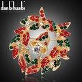 Moda pin broche de strass na gola broche de esmalte esmalte jóias pinos e broches para as mulheres de natal broche