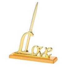 "1pc 골드 펜 홀더 파티 호의 결혼식 서명 펜 ""사랑"" 홀더 결혼식 장식 펜 세트 방명록"