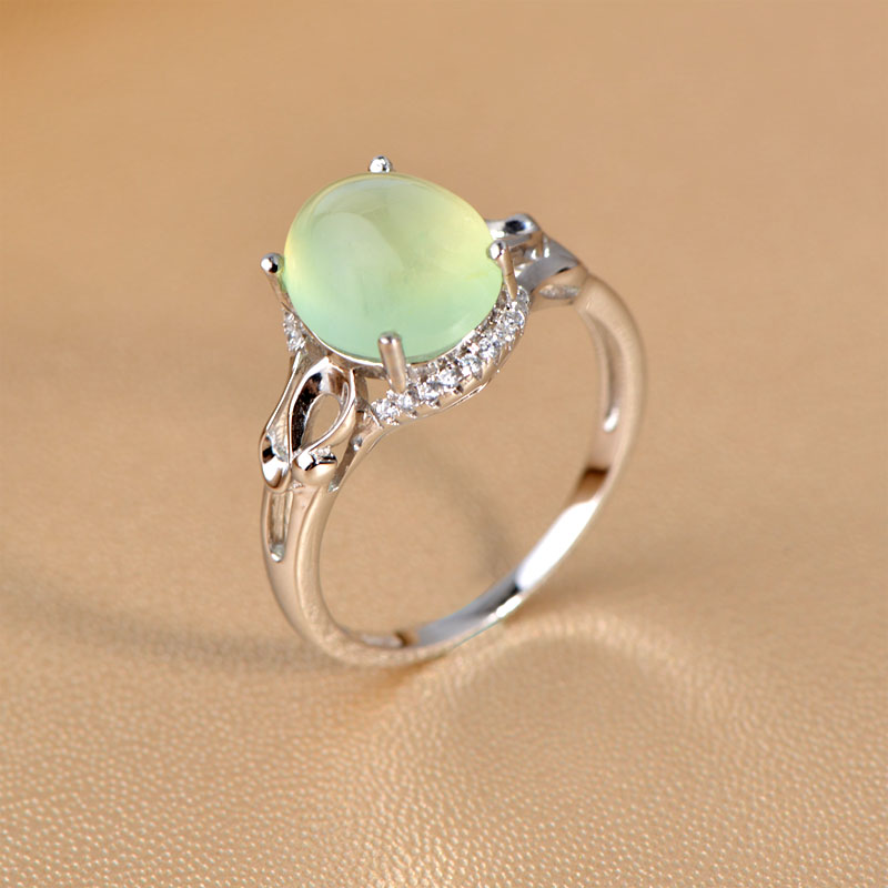 Very natural grape stone ring Thai female gold plated 925 silver ...