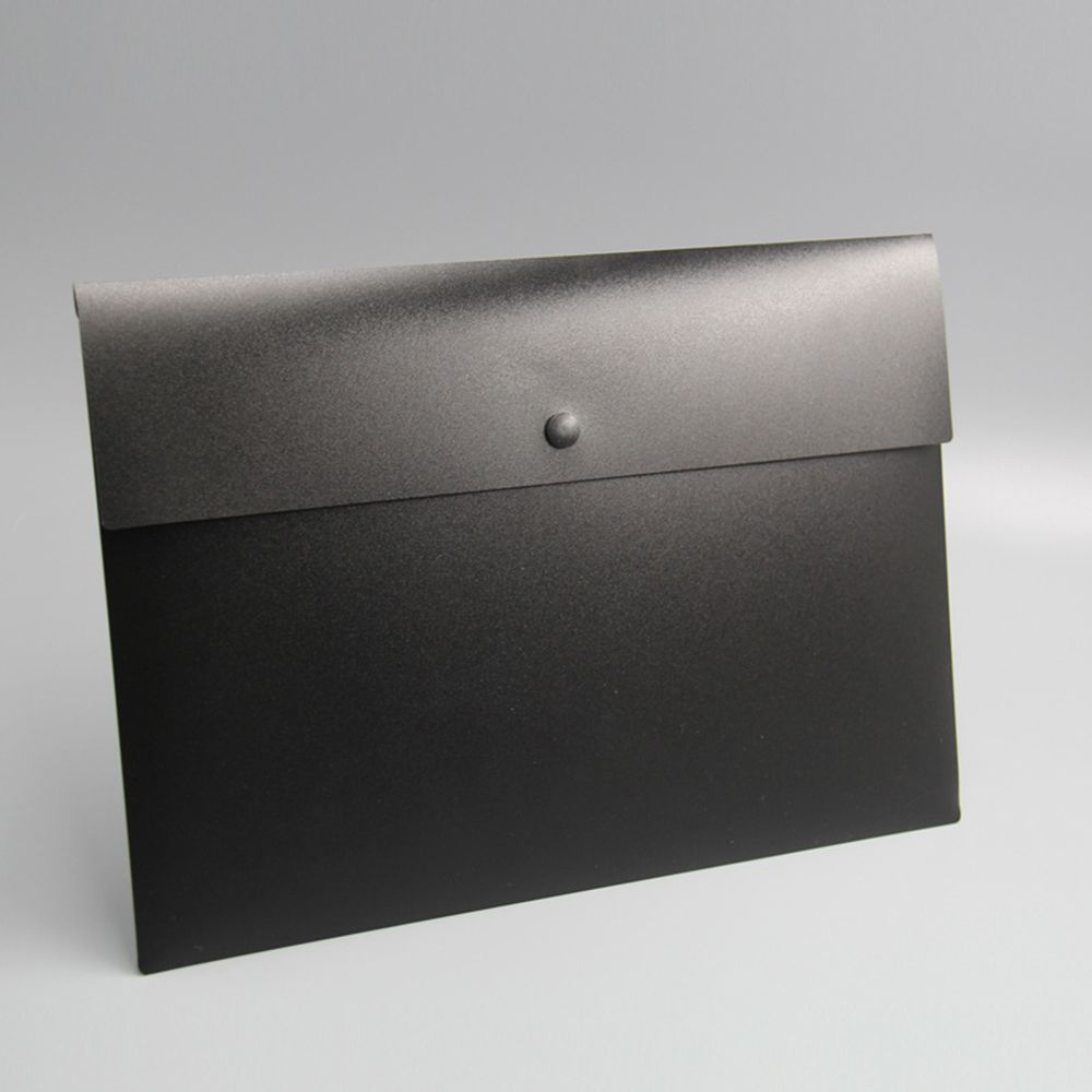 High Quality Simple Business A4 File Folder Briefcase Document Bag Paper Folder Organizer Black White Color