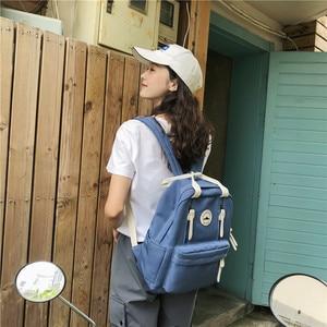Image 3 - Dcimor 방수 나일론 여성 배낭 여성 반지 버클 여행 배낭 십 대 소녀 schoolbag 세로 지퍼 mochila