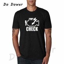 Check Engine Light T Shirts Men T-Shirt New 2018 Summer Short Sleeve O