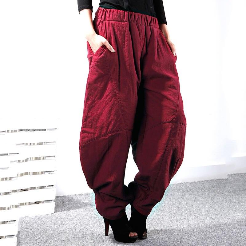 Corée Zll2141 xitao Nouvelles Élastique Hiver Lâche 2018 Solide Longueur Femmes Zll2141 Zll2141 Couleur Harem black Apricot Pantalon Femelle Fashon Casual Taille Pleine red wFrwpxH