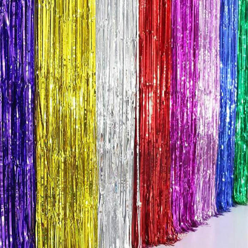 5pcs/lot Metallic Foil Curtain Wedding Decoration Backdrop Foil Fringe Tinsel Curtain Shiny Backdrop Birthday Party Decoration75 自宅 ワイン セラー