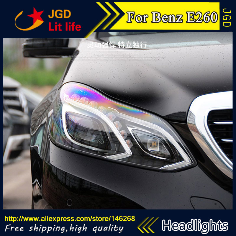 Free shipping ! Car styling LED HID Rio LED headlights Head Lamp case for Benz E180 E200 E260 w212 Bi-Xenon Lens low beam 2pcs 12v 31mm 36mm 39mm 41mm canbus led auto festoon light error free interior doom lamp car styling for volvo bmw audi benz