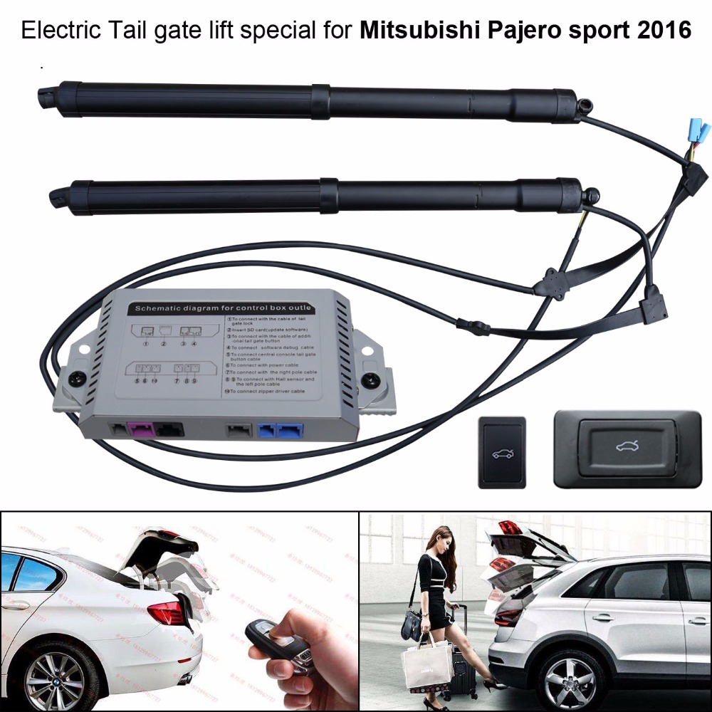 car electric tail gate lift special for mitsubishi pajero sport 2016 easily for you to control [ 1000 x 1000 Pixel ]