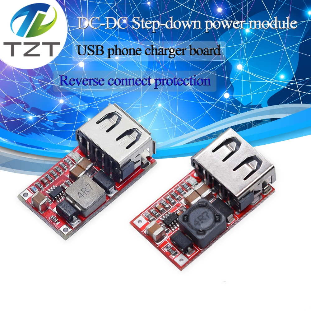 DC 6-24V 12V/24v To 5V USB Output Charger Step Down Power Module Mini DC-DC Step Up Boost Module Power Adjustable Buck Converter