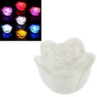 20 Cái Thay Đổi 7 Colors Rose Flower LED Night Light Candle Light Lamp Romantic
