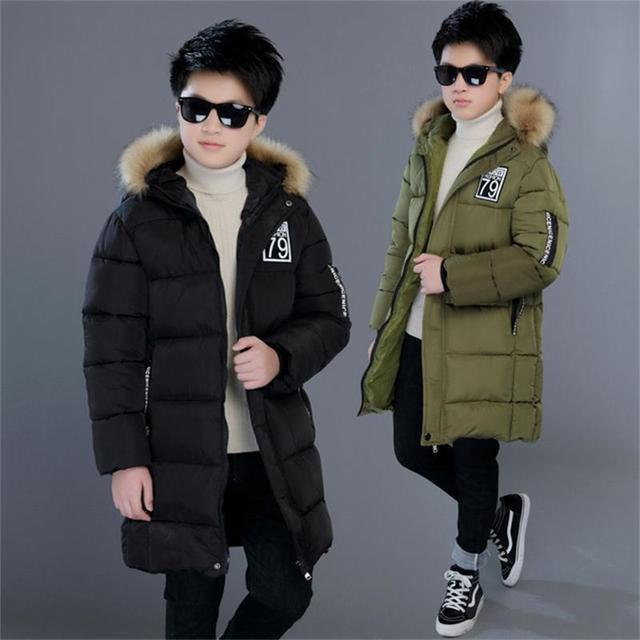 Winter Children Jacket&Coat For Boys Camouflage Fashion Hooded Outwear Kids Down Coat Padded-Cotton Boy Clothes Outwears