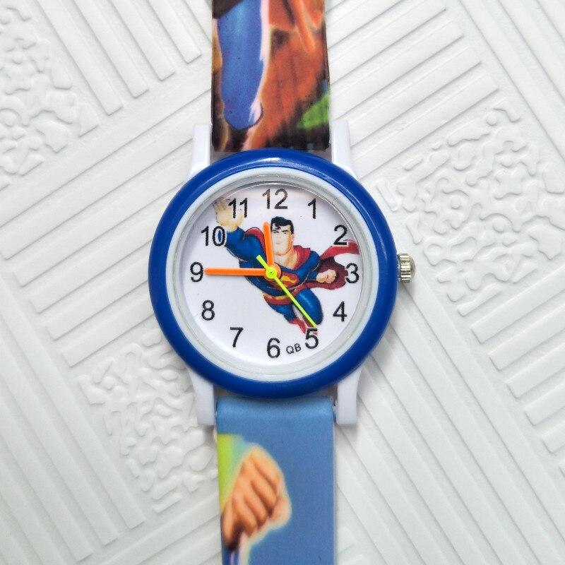 3D Cartoon Hero Superman Children's Watches For Kids Quartz Wristwatches Kid Baby Watch Clock Child Watches For Girls Boys Gift