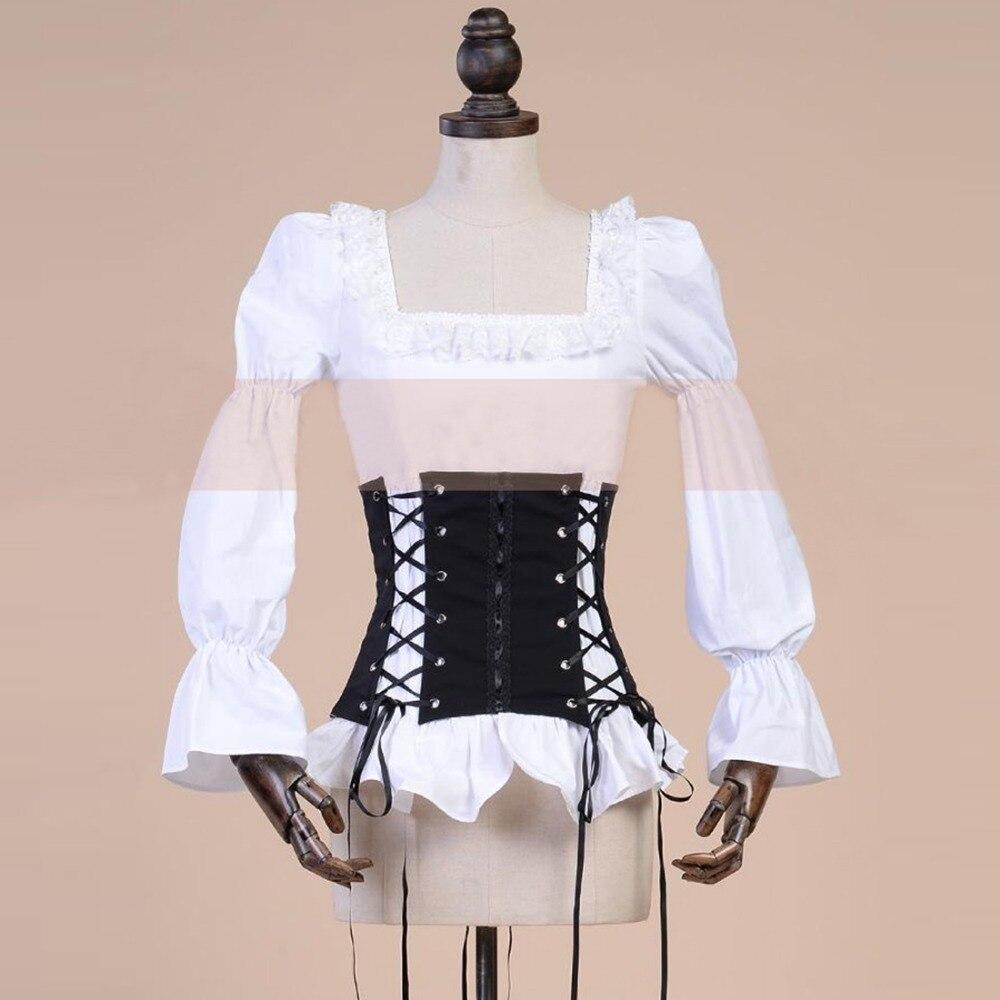 Spring autumn Female retro black and white punk font b blouse b font font b women