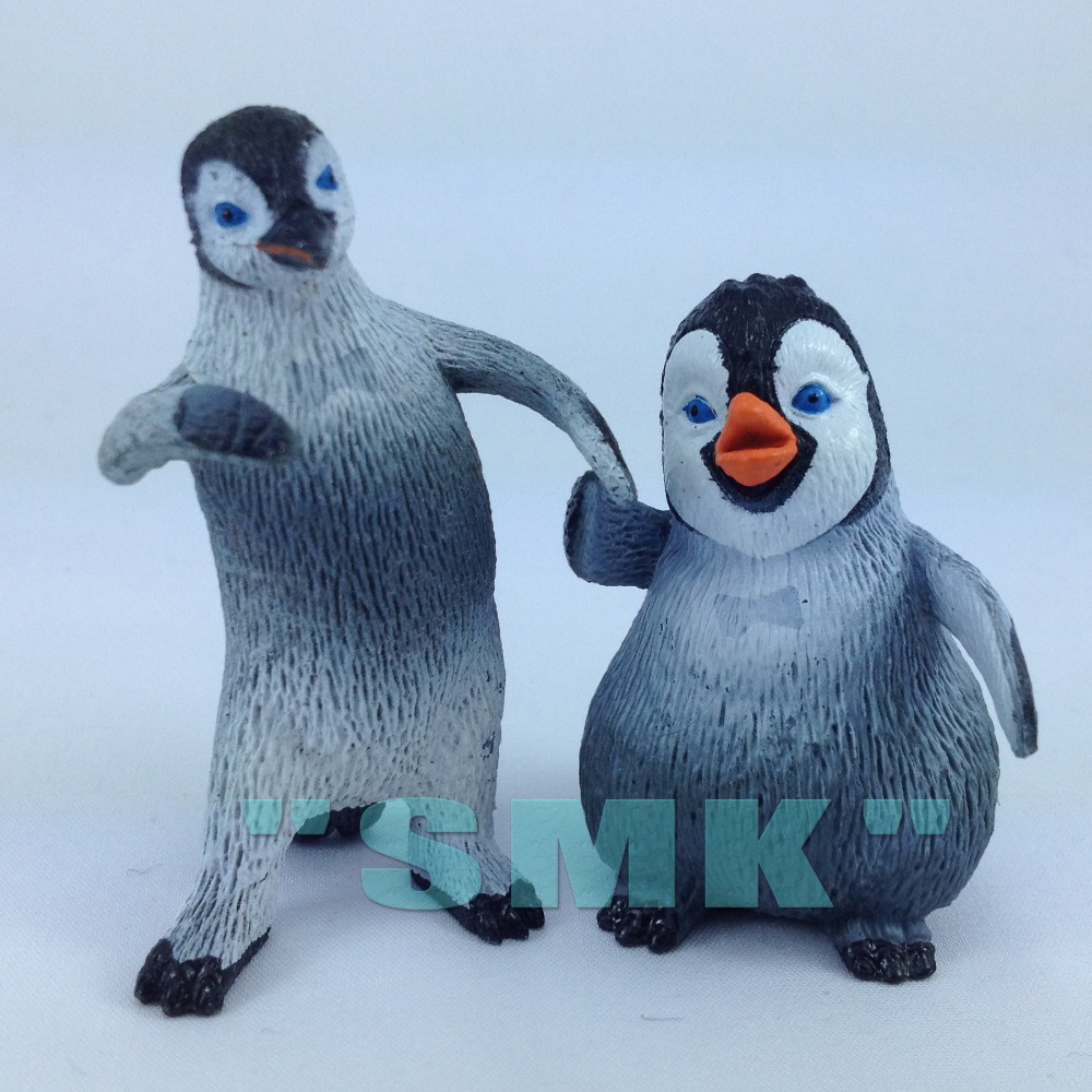 Happy Feet Mumble Penguins Animal Model Toy Ornaments Young And