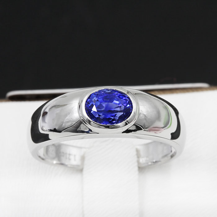 Natural Blue Sapphire Gem Ring Genuine Solid 18K White Gold Real Precious Stone Woman Fine Jewelry ZHHIRY браслет gem miners bb0002 18k 7 65ct