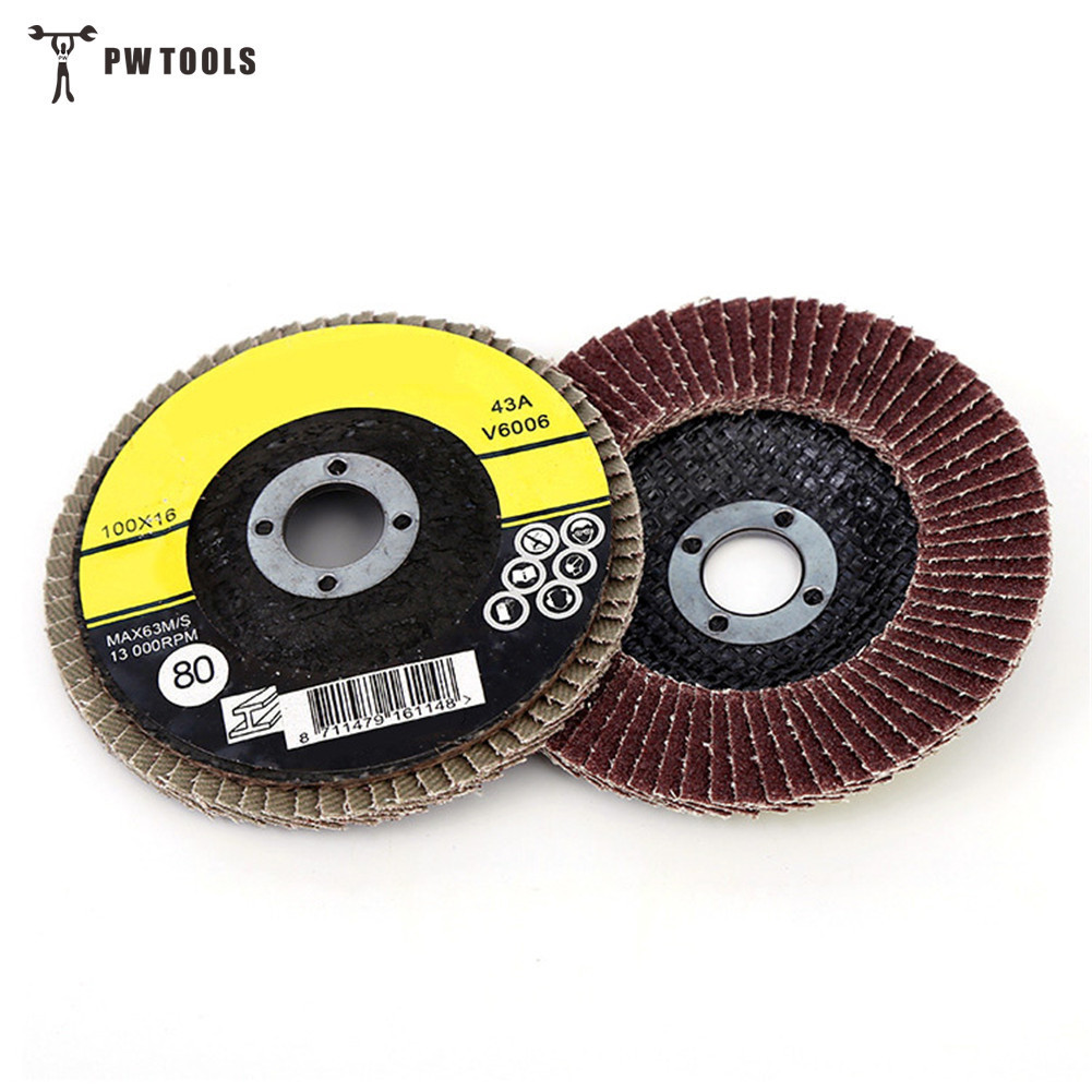 Tools 10 Pieces Premium 4 10cm Auto Body Sanding Flap Discs Grinding Sanding Polishing Wheels Polished Wafers Wheels