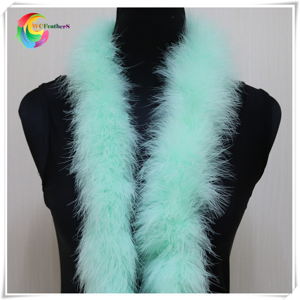 48-50g 2meters long fluffy feather boa dyed leather pink turkey feather boa for party/carnival costumes/party boa shawl