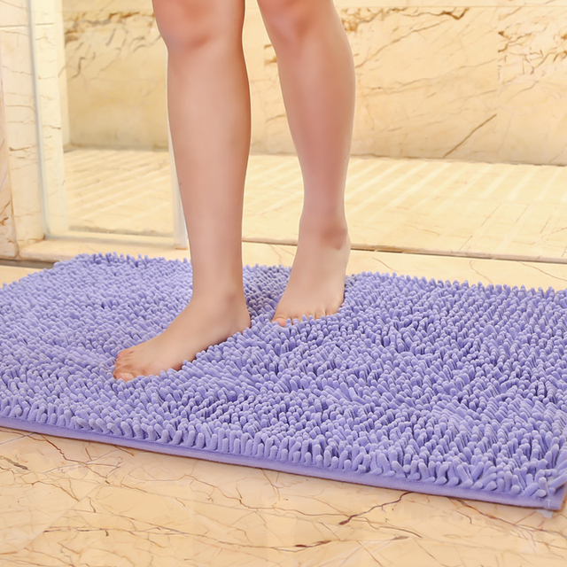 "40x60cm/15""x23"" microfiber bath mat soft comfortable material"