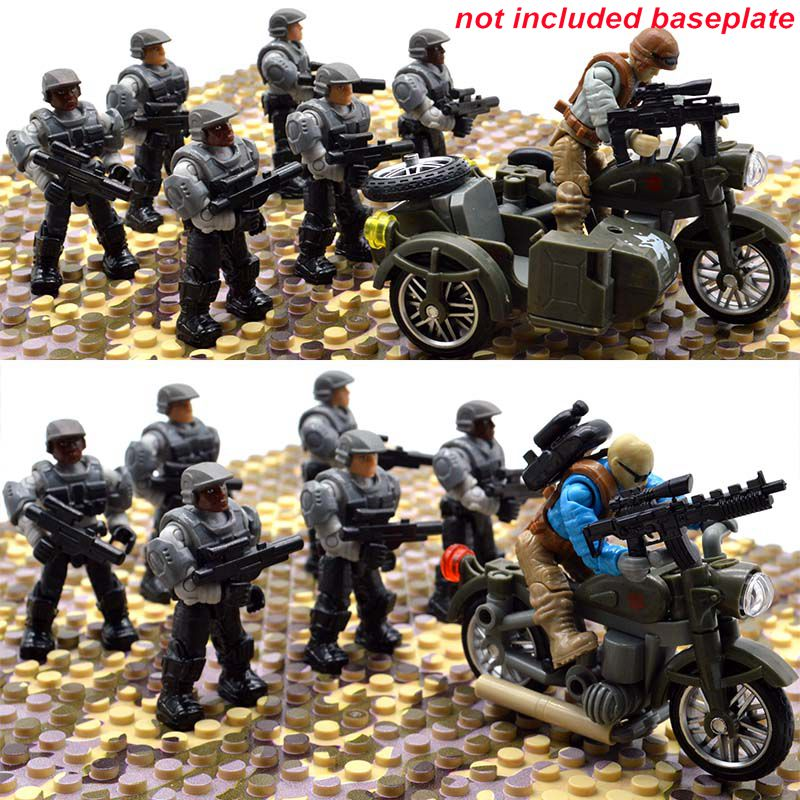 Set Halo Game Army Duty Call Military Soldiers Series Warriors with Weapons Building Blocks Bricks Toys for Children