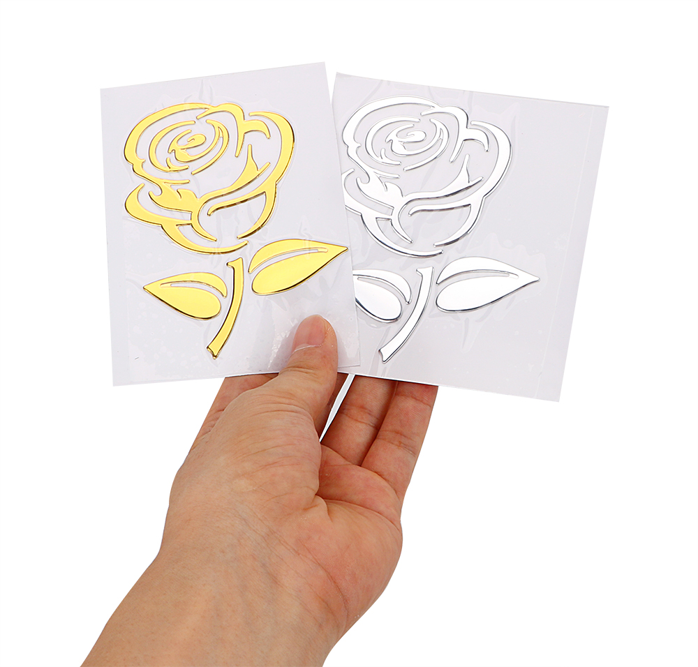Sell 3D Golden - Silver Flower Car Stickers
