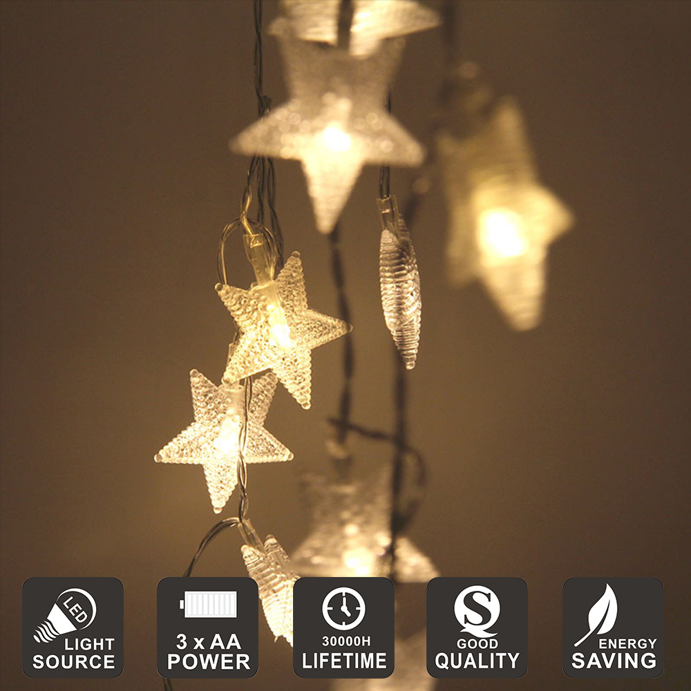 LED strings LED Party Lights Five pointed Star LED string lights for Home Wedding Xmas Party
